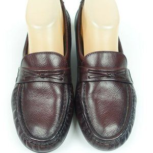 Red Brown Loafer Leather Comfort slip on shoe 7.5